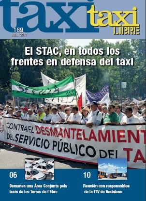 Ultimo número de la RevistaTaxi Libre, 189