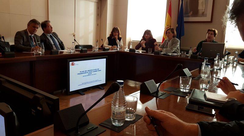 Reunió al Ministeri de Foment sobre el Pla d'Inspecció de Transport per Carretera 2018.