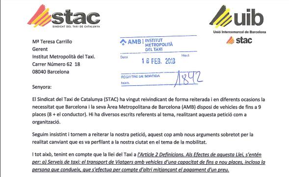 El STAC, nuevamente,  reclama al IMET que autorice vehículos para el servicio del taxi de hasta 9 plazas