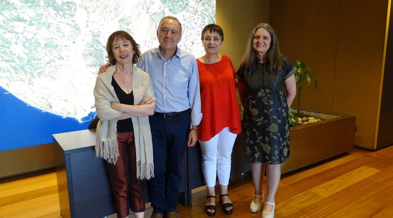 Reunión con la nueva presidenta del IMET, Rosa Alarcón