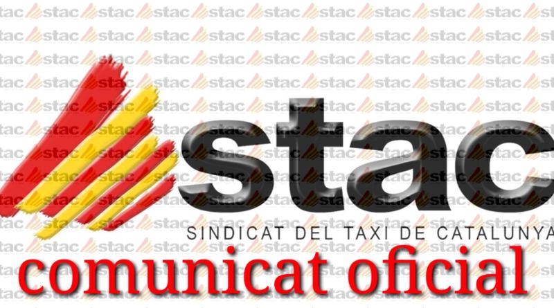 COMUNICADO asociaciones y radiotaxis del AMB. PACTO SECTORIAL