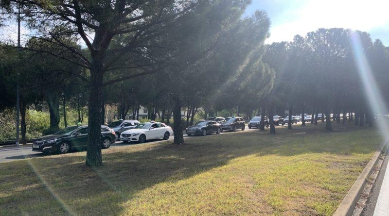 Los taxistas de Montpellier bloquearon la ciudad el viernes por la mañana