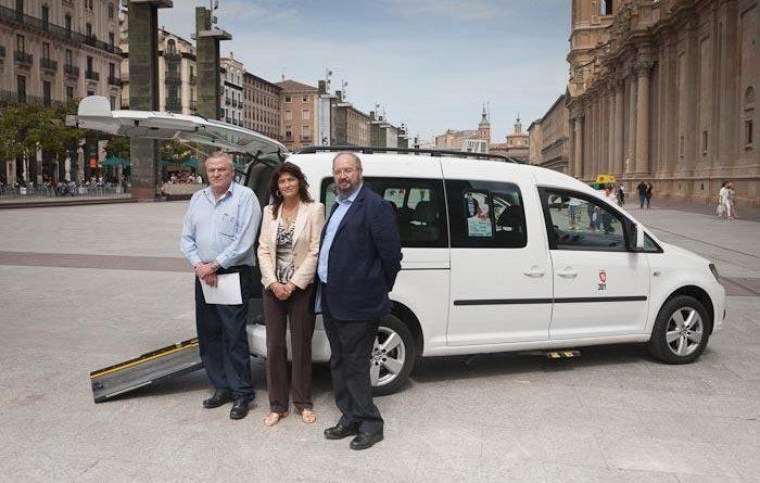 El taxi accesible de Zaragoza registra unos 60.000 usos en 2020 a pesar de la pandemia