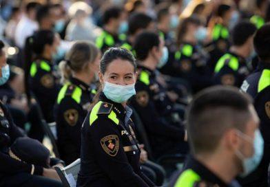 Presentación de los nuevos 237 agentes de la Guardia Urbana de Barcelona